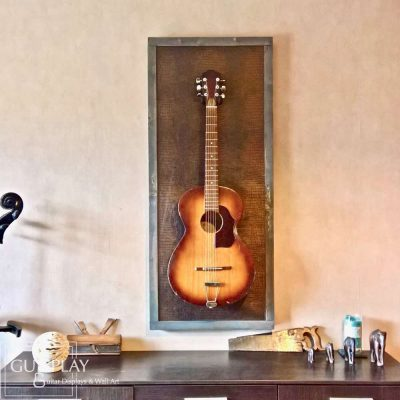 Guisplay Desert Wall Hanger Support Guitar Display Stand Desert Fabric Art Framed Creation13(watermarked)