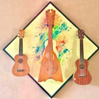 Guisplay Ukuelele Triple Wall Hanger Display Stand 6(watermarked)