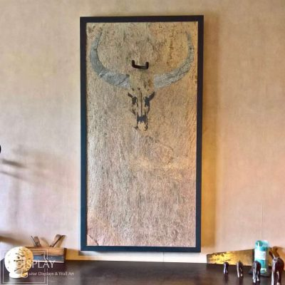Guisplay Wall Hanger Guitar Display Stand Cow Stone Marquetry 2(watermarked)