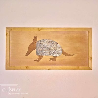 GUISPLAY Tatou Armadillo Marquetery Stone Wood Wall Art Creation 1(watermarked)