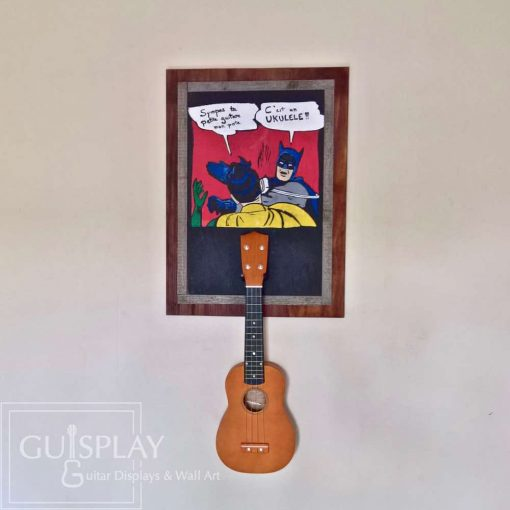 Guisplay Batman meme Support Ukulele Display and Wall Art Framed Creation9(watermarked)