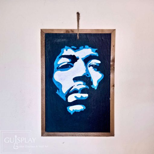 Guisplay Jimi Hendrix Face Ardoise Slate Framed Wall Art Creations1